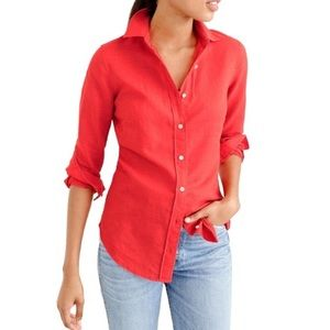 J Crew The Perfect Shirt In Linen